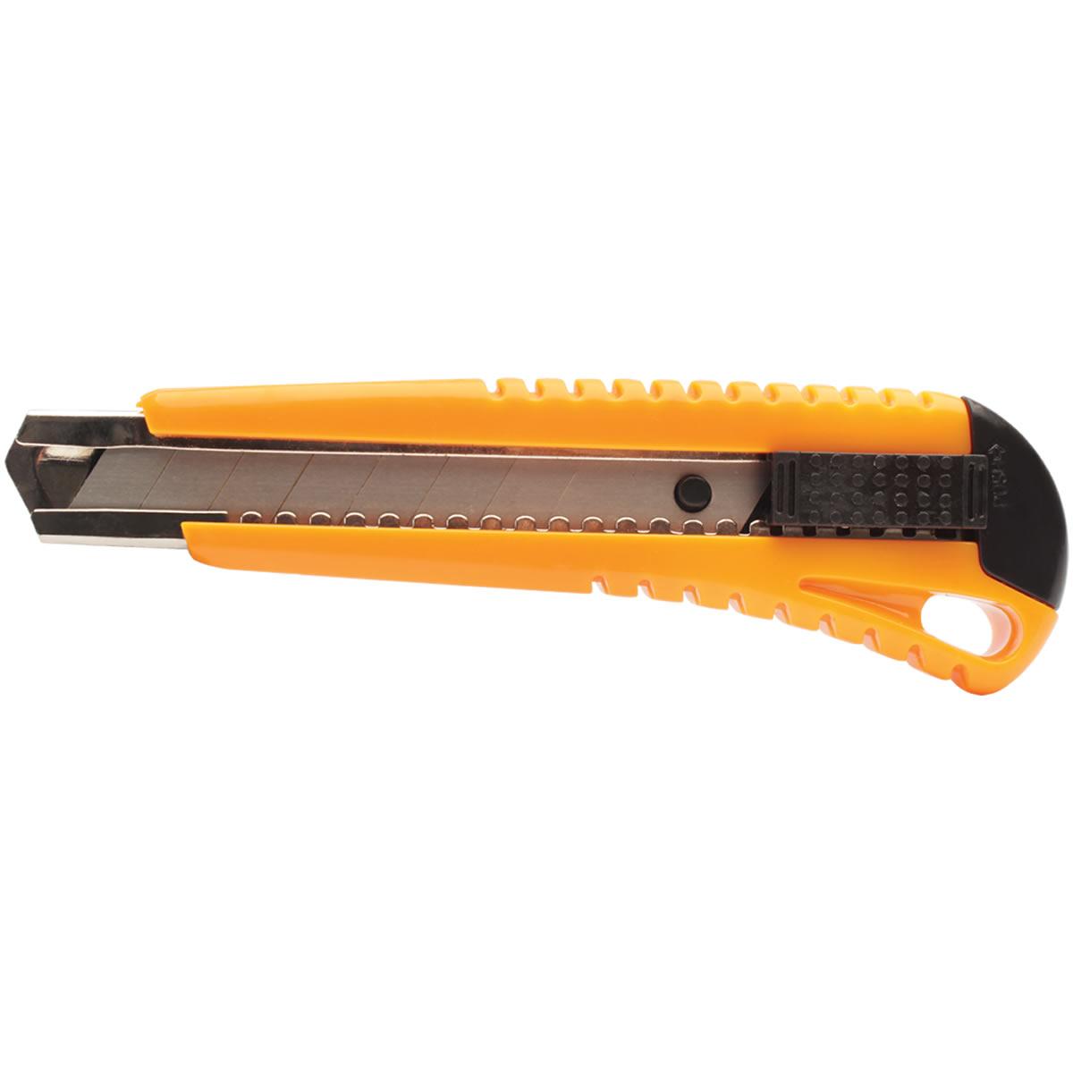 Estilete Largo 18mm Profissional Amarelo Maxprint - MX-E18
