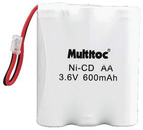 Bateria para Telefone sem Fio Multitoc P50 600MAH 3,6V 3AA - MUBA0030