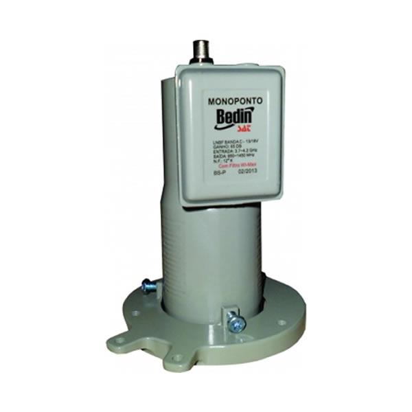LNBF Mono-Ponto Banda C para Antena Parabolica com Frequência - Bedinsat - 50206018