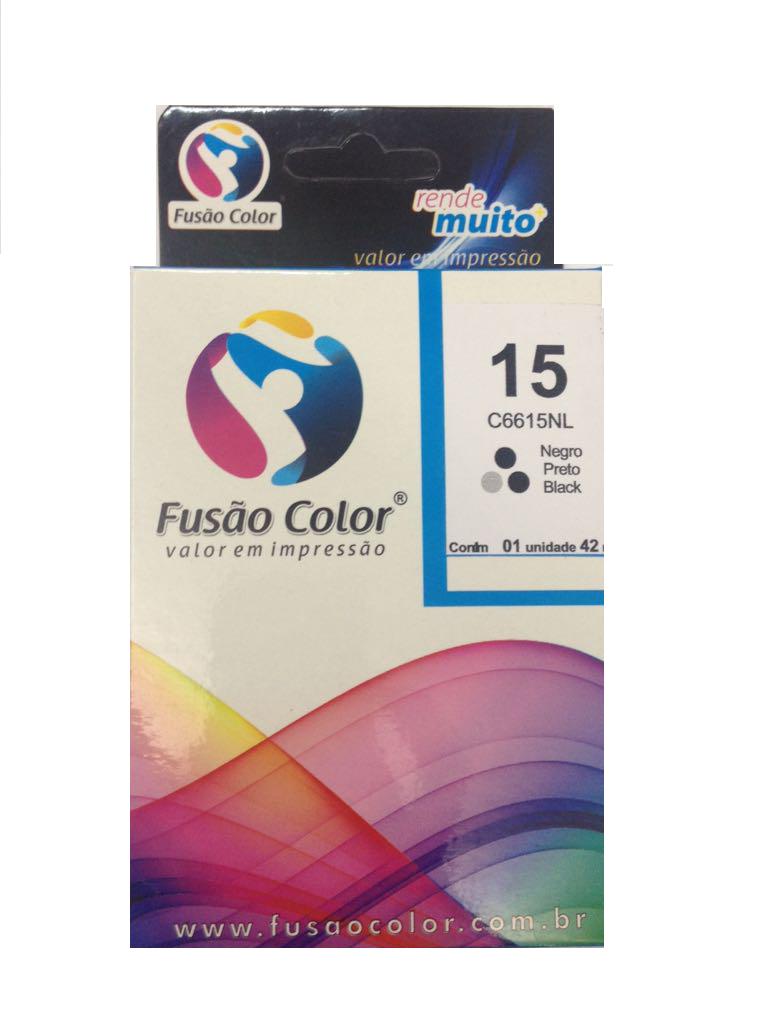 Cartucho de Tinta HP 15 Preto Fusão Color C6615NL - 40