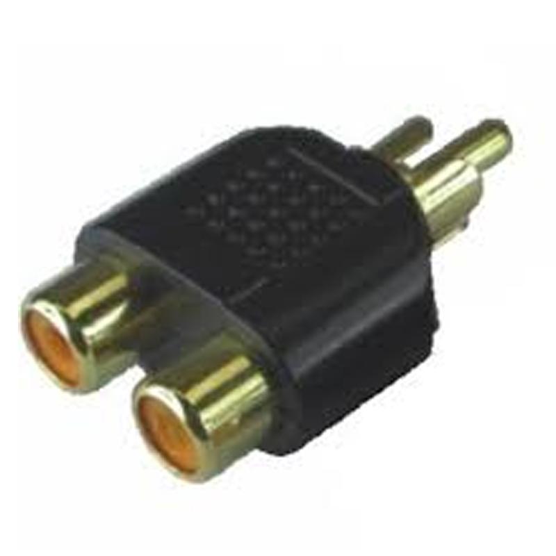 Adaptador RCA Macho - 2 RCA Fêmea Tblack - 1.2.86