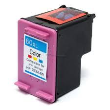 Cartucho de Tinta HP 60XL Colorido Edeltec - 60XCOLOR/CC644