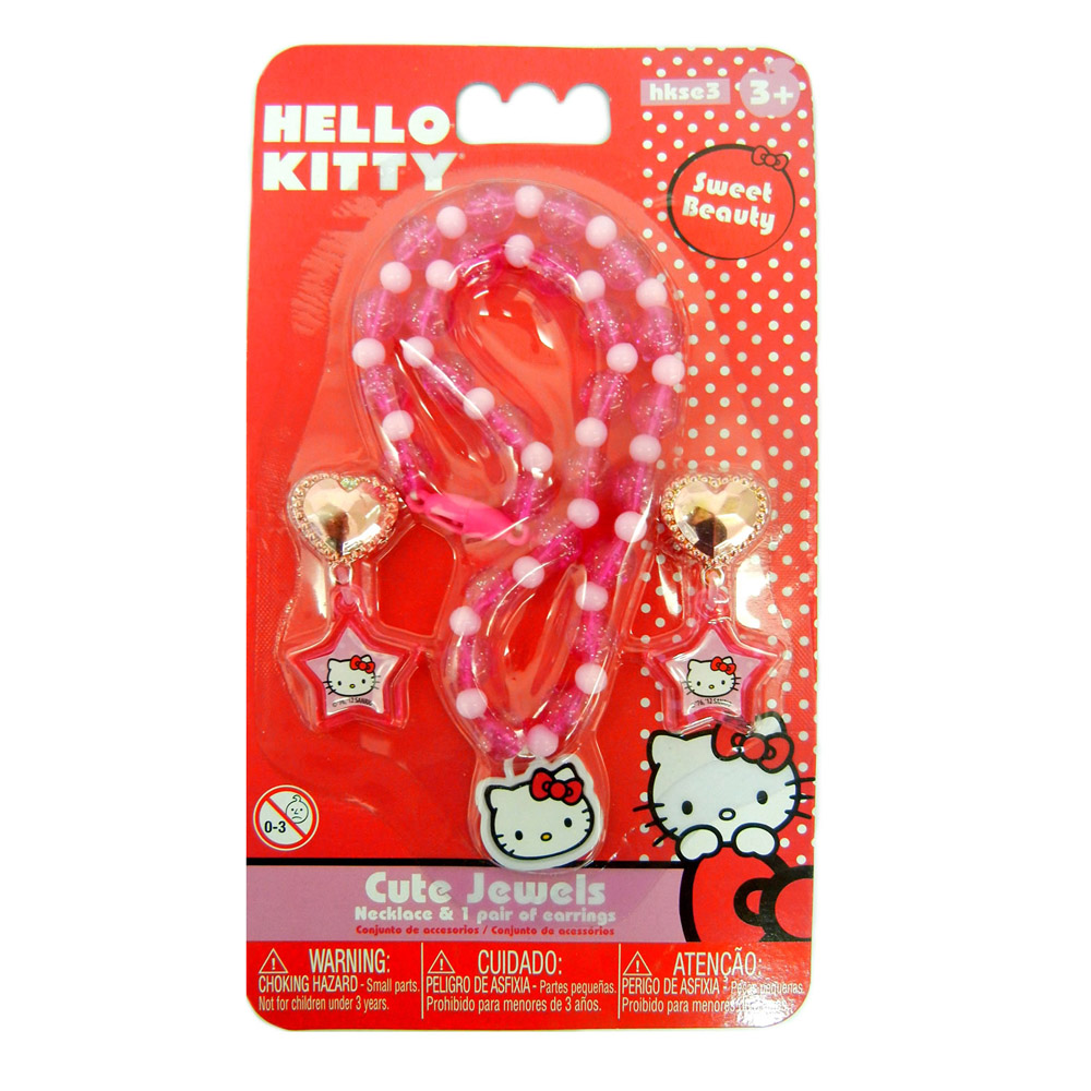 Brincos + Colar Hello Kitty Intek - HKSE3