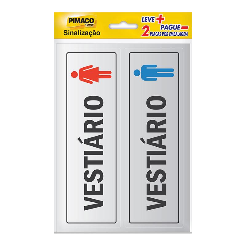 Etiqueta Sinalização Vestiário Feminino/Masculino Pimaco - 891731