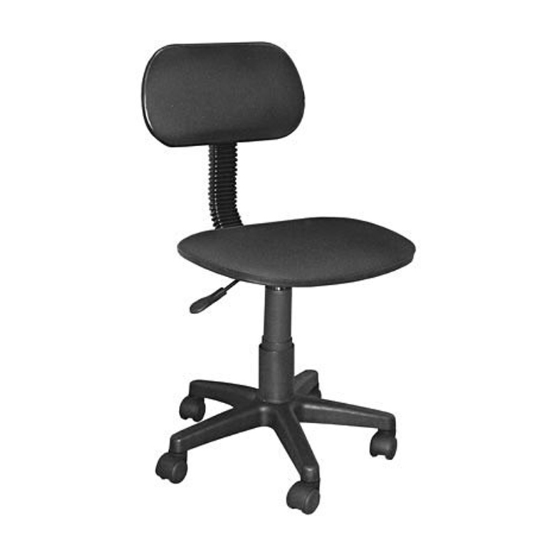 Cadeira Giratória sem Braço Escritório Tecido Preto Multivisão - CAD-X-SEC-PR