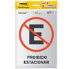 Etiqueta Sinalização Estacionamento/Proibido Estacionar Pimaco - 891736