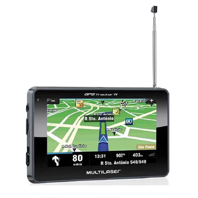 Aparelho GPS 4,3 Polegadas com TV+FM Tracker Multilaser - GP034