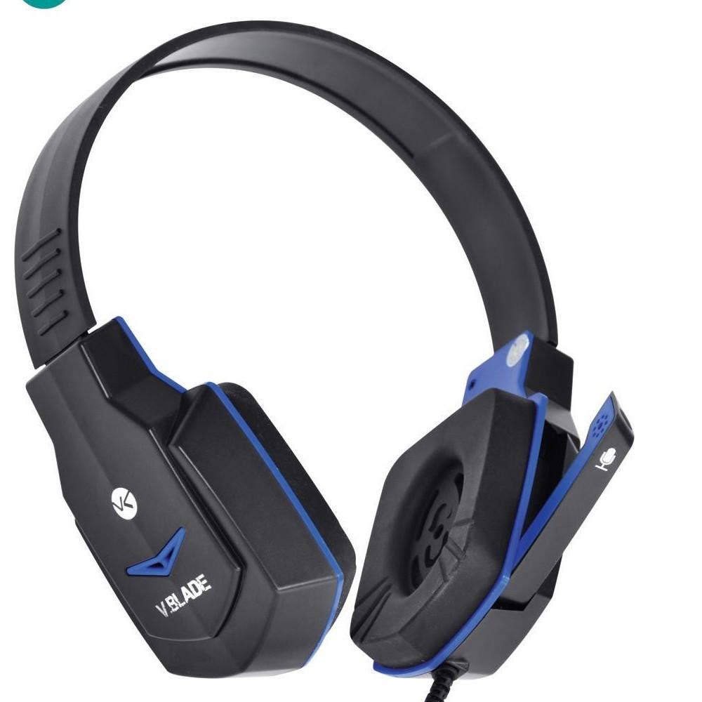 Fone de Ouvido Gamer com Microfone Preto e Azul Vinik V Blade VX