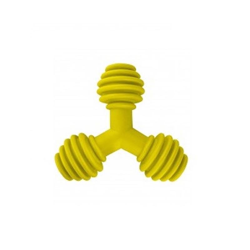 Brinquedo para Cachorros Modelo Triângulo de Borracha Pequeno Furacão Pet - 0850