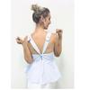Blusa Regata Listrada com  Detalhes Azul Esmeral - 26664 - TAMANHO P