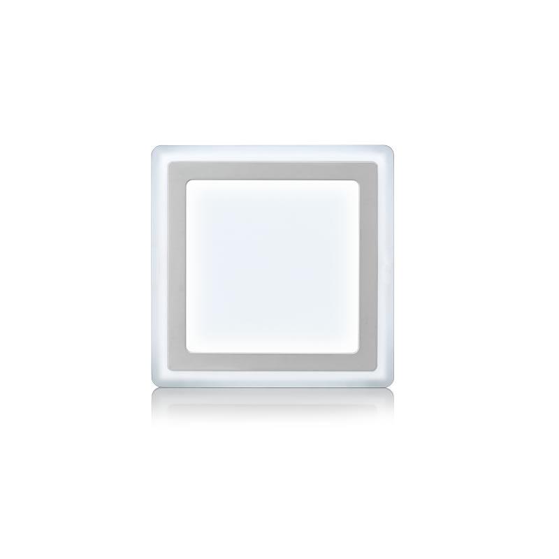Luminária Plafon 18W+6W LED 6500 e 6500k 3 Estágios Quadrado de Sobrepor Bivolt Elgin - 48D186WSQB00