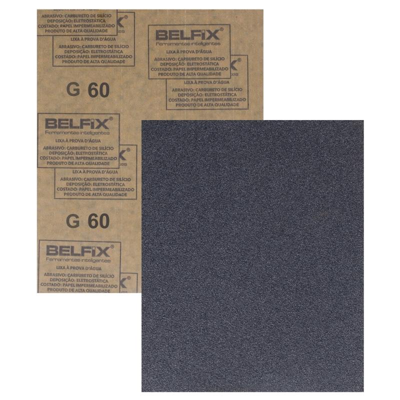 Folha de Lixa D´Água 230x280mm G30 Bel Fix - 280600
