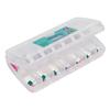 Caixa Organizadora para Remédios ou Medicamentos 14,6x8,1x2,6cm Sanremo com Tampa e Separação - 688