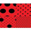 Eva Bolinhas 4 Estampas em 1 40x60 Cm 2mm Vermelho/ Preto RDJ Unitário - 619