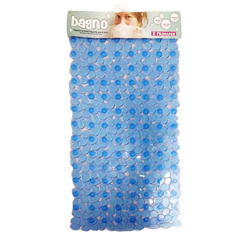 Tapete para Box do Banheiro PVC Anti-derrapante Azul 36cm x 70cm Primafer - PR2603-1 - PR2603-1