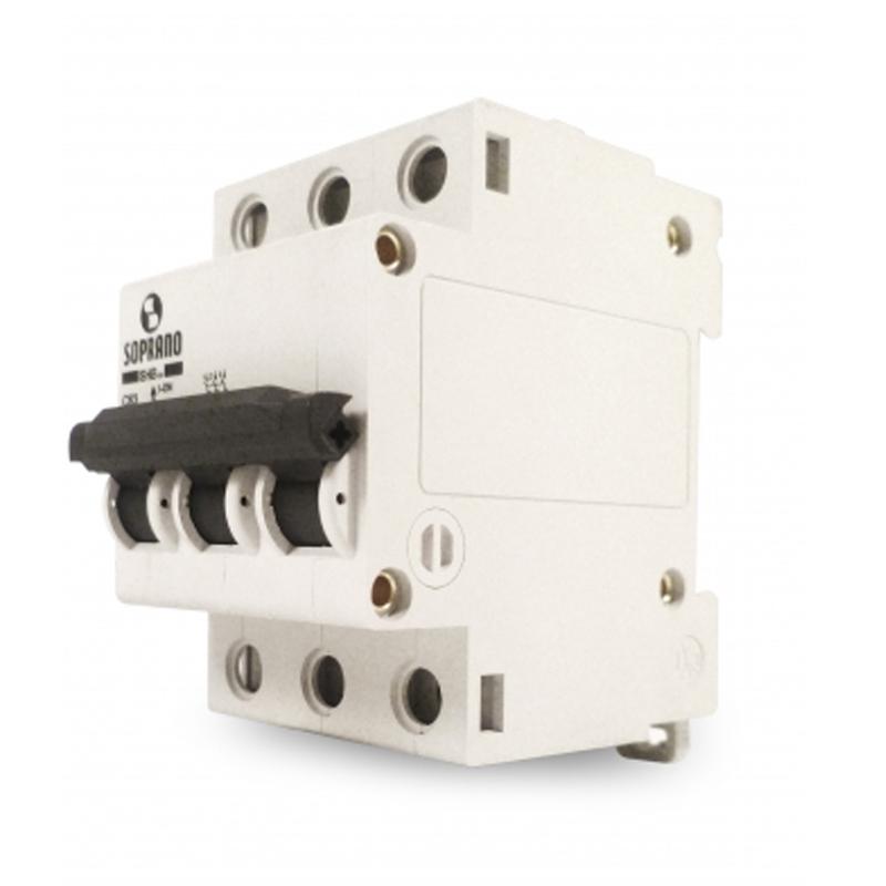 Disjuntor 40 Amperes 3 Polos Curva C Soprano - SHB3-GII-C040A