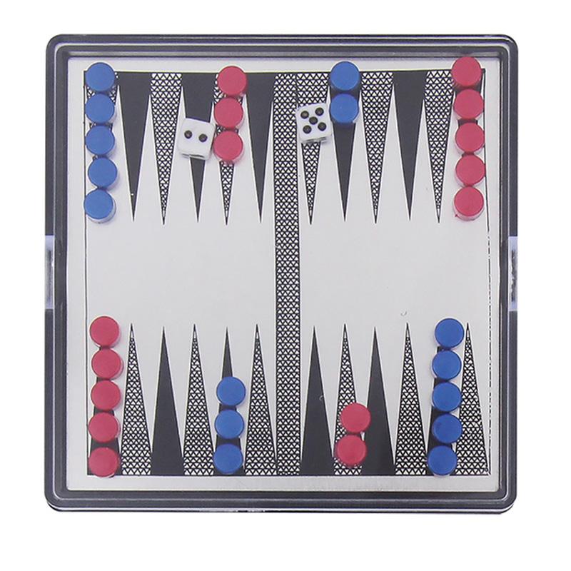 Jogo de Gamão Mini com 30 Peças Tabuleiro Magnético Western - GM-02 - GM-02