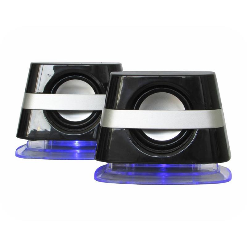 Caixa de Som Kmex SP6800 2.0 Canais 6W RMS USB Preto e Prata - SP-6800G0010BOX - SP-6800G0010BOX