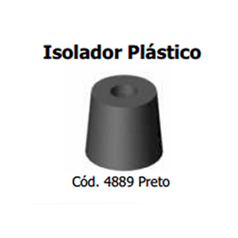 Isolador Plástico 10mm - Preto - Automotivo - Stcom - 4889