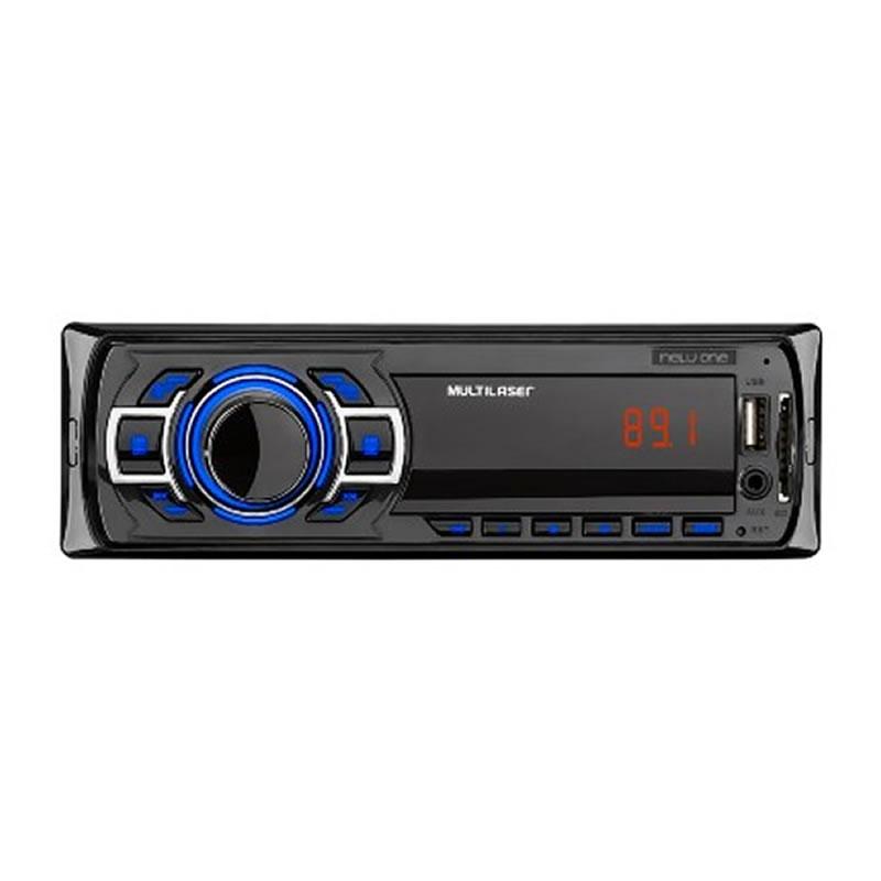 Rádio Automotivo Multilaser 4x12,5W USB/SD/FM/AUX - P3318