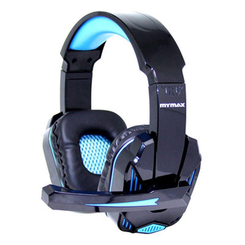 Fone de Ouvido Gamer com Microfone USB Preto/Azul Mymax - MHP-SP-X9/BKBL - MHP-SP-X9/BKBL