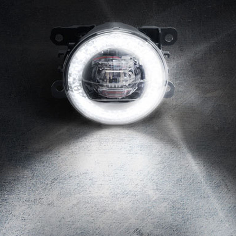 Kit Farol de Milha Universal Led 3x3w 12 Volts com DRL Anel Shocklight - LED-210302C - Vendido no Par