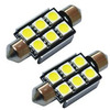 Lâmpada Led Torpedo Automotiva 6 Leds 31mm 12 Volts Cambus Qualyten - Vendido no Par