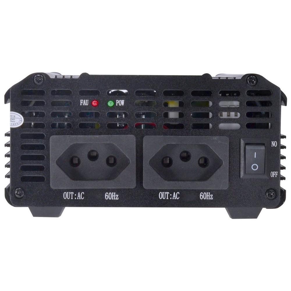 Inversor de Potência Veicular 2000W - Converte DC 12V para AC 110 Volts - Vinik - 25330