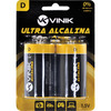 Pilha Alcalina D Grande 1,5V Blister 2 Unidades Vinik - 25592