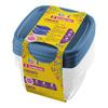 Pote Plástico Quadrado 200ML Azul Sanremo com 4 Potes Com medidor até 150ml - SR120/4C