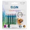 Pilha Alcalina 4 Pilhas AA + 4 Pilhas AAA Elgin Blister LR6/LR3 + Chaveiro Sortido - 82295
