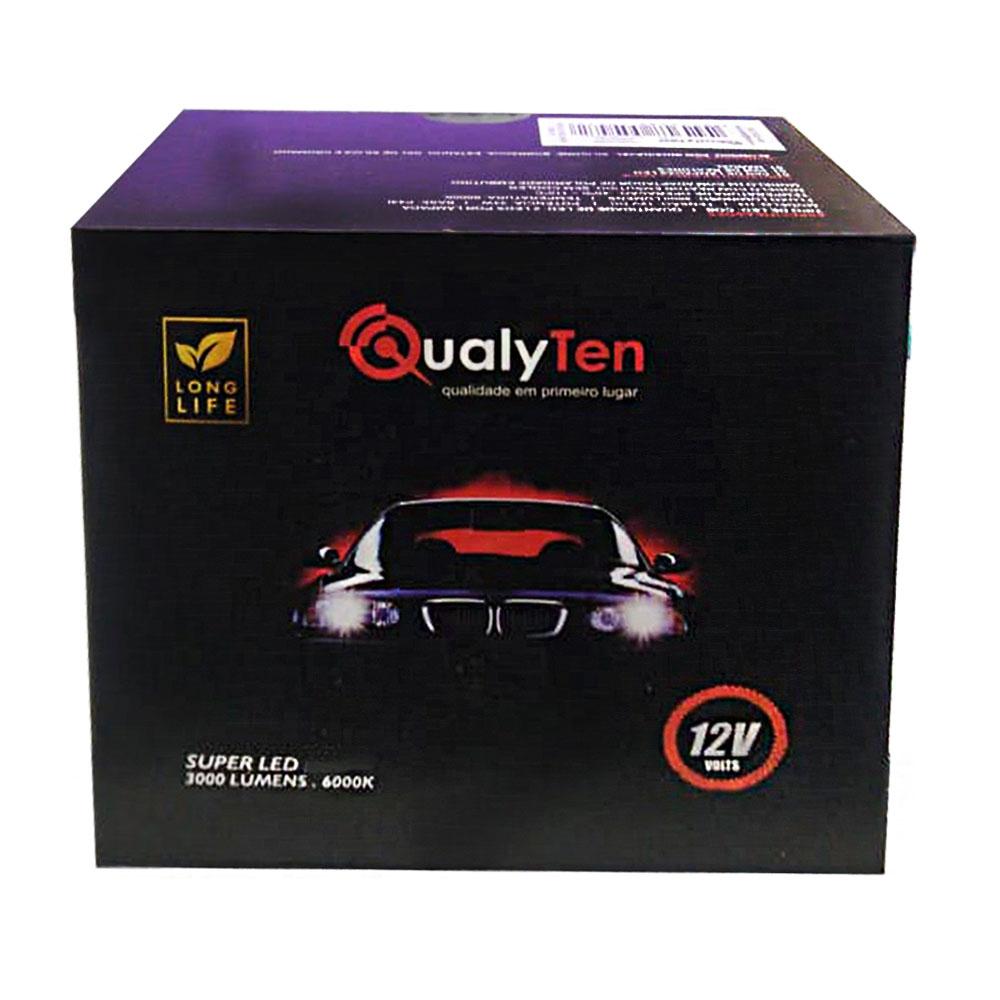 Lâmpada Super Led Automotiva HB4 9006 12V 34W 6000K Qualyten - Vendido no Par - 4577