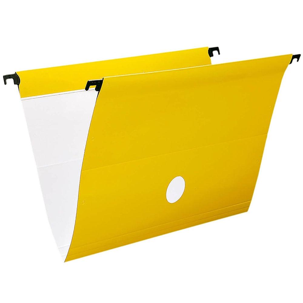 Pasta Suspensa Amarelo Plastificado Haste em Plástico Polycart - Unitário - 5141-AE