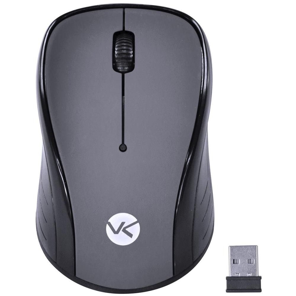 Mouse USB Sem Fio 1200DPI Preto e Cinza W600 Vinik - 29674