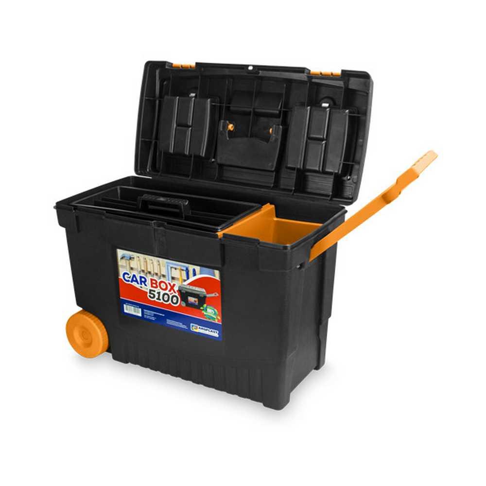 """Caixa Plástica para Ferramentas Car Box 5100 23"""" com Rodas Arqplast"""