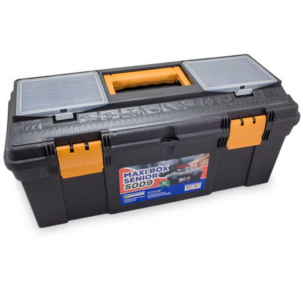 "Caixa Plástica para Ferramentas Maxi Box Senior 5009 22"" com Bandeja Arqplast"