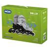 Patins Roller Infantil Cinza Mor de 34 à 37 - 40600124 - Tamanho Ajustável - 40600124