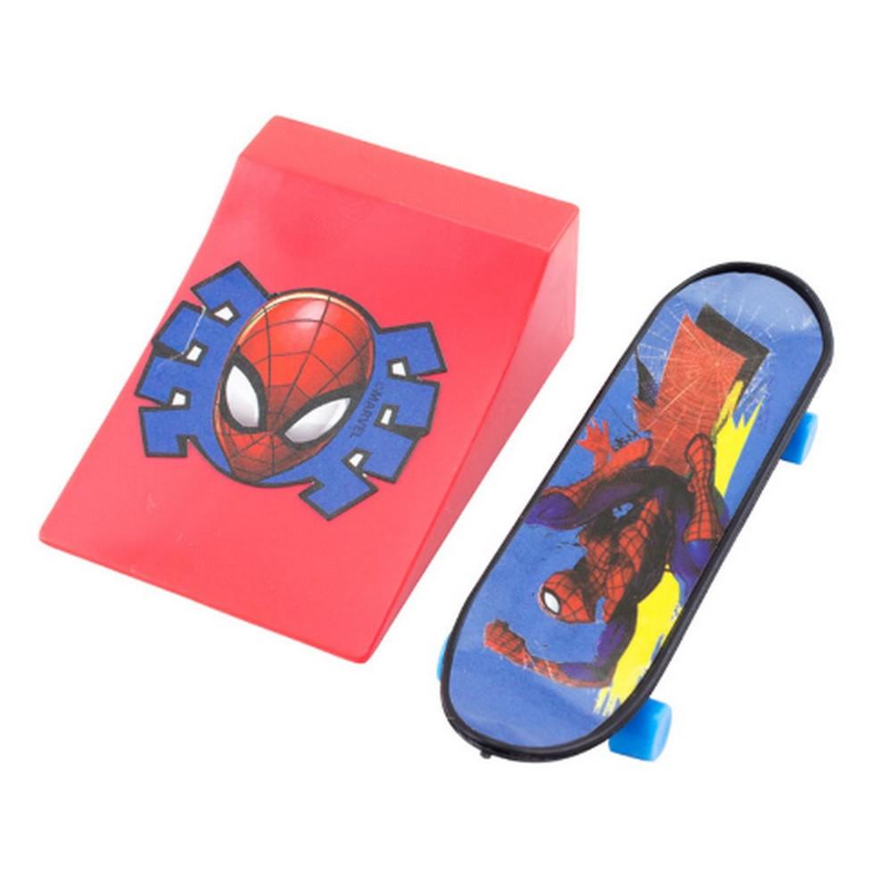 Skate com Rampa Spiderman Mini 2 Unidade Azul/Vermelho Etitoys- DY-430