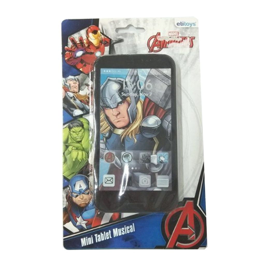 Mini Tablet Musical Avengers Unidade Cores Sortidas  Etitoys - DY-280