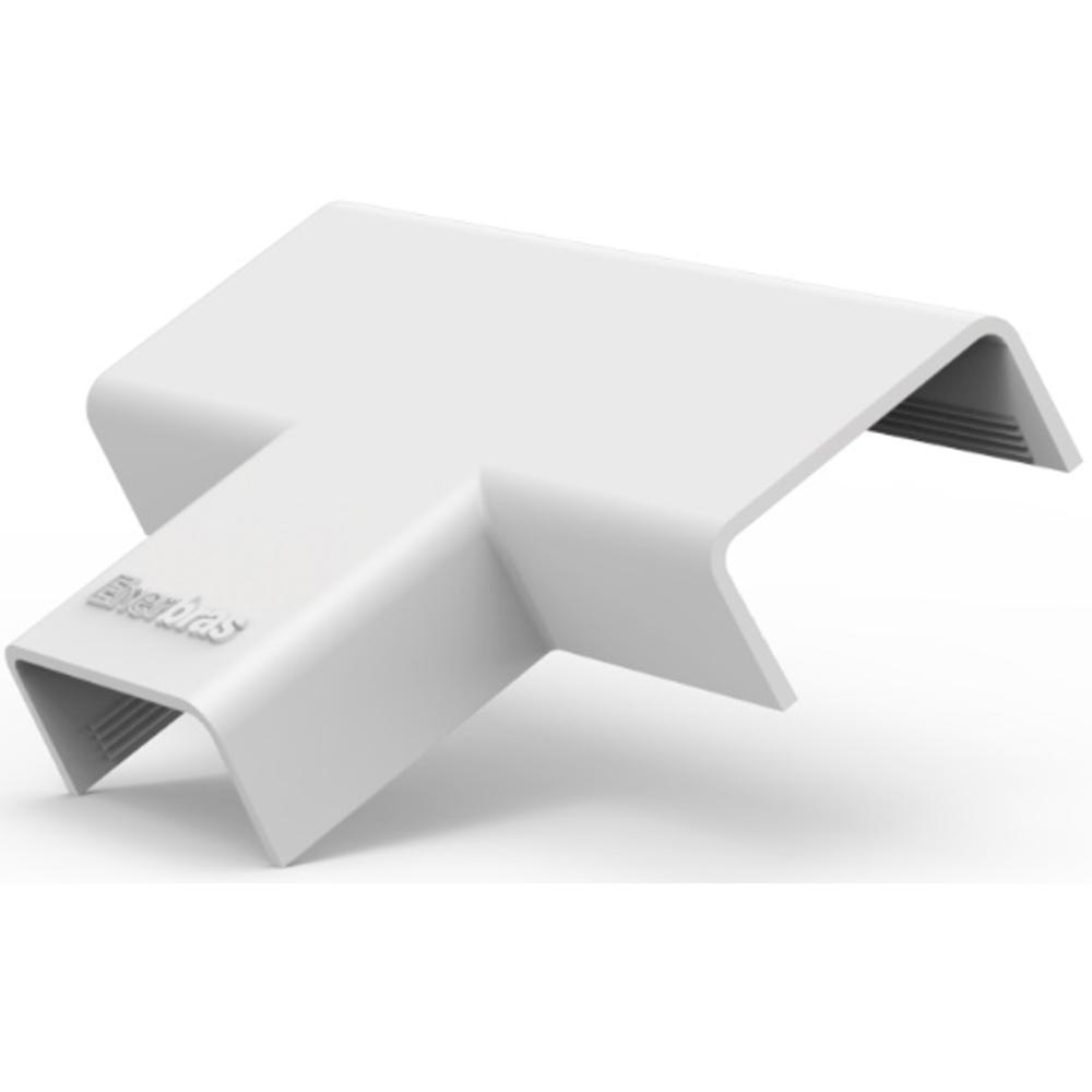 Te para Canaleta 20x10 Branco Enerbras - 360-E8-P  Caixa com 50 Unidades