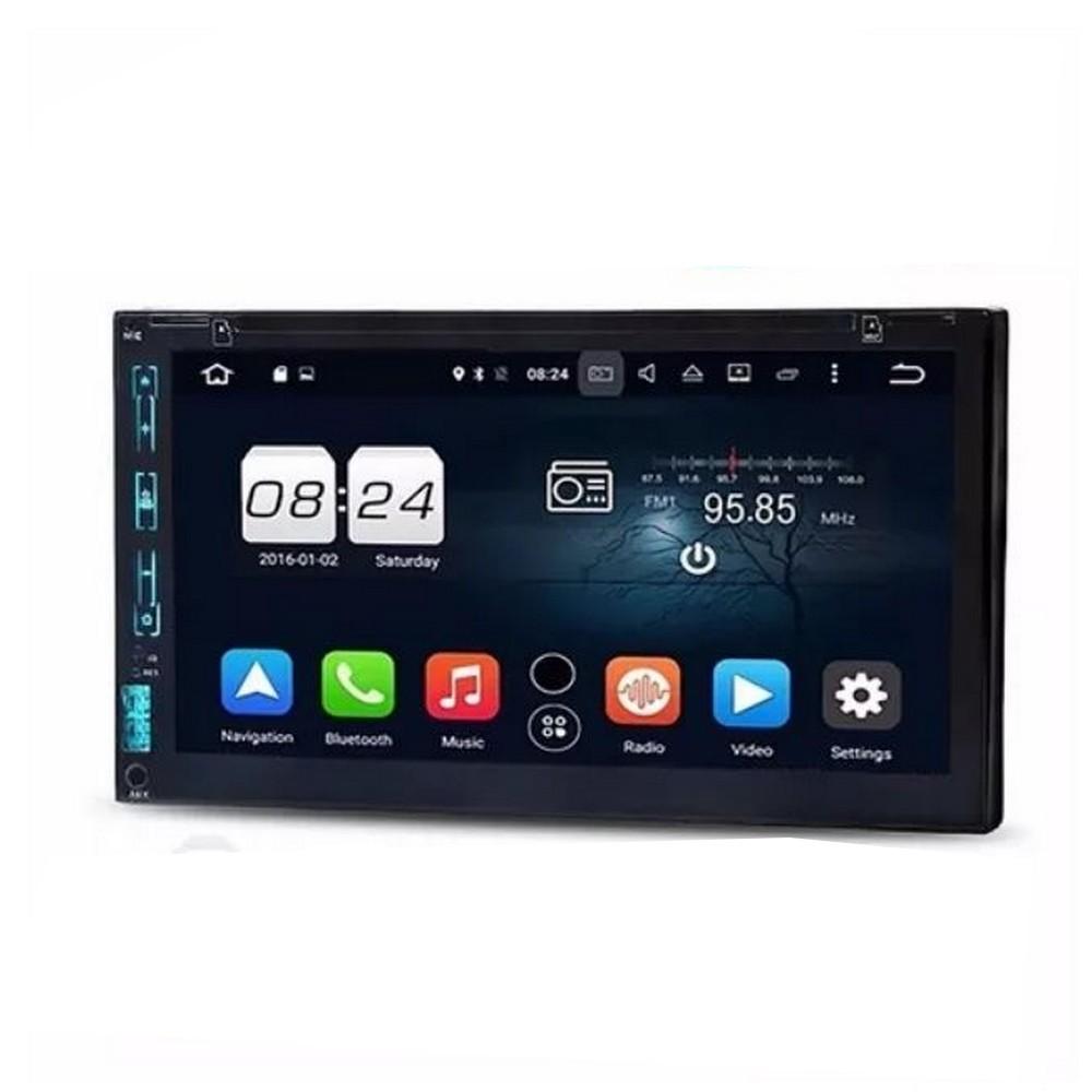 DVD Player Automotivo Exbom MPCCD760BT 2 Din Tela 7 Polegadas HD TFT Touch Screen com DVD/Bluetooth/FM/USB/SD/Auxiliar