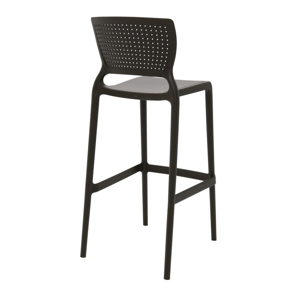 Cadeira Fixa de Plástico Alta Bar Safira Marrom - Tramontina - 92138/109