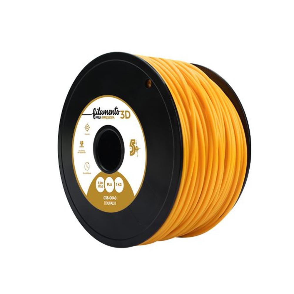 Filamento para Impressora 3D 3mm PLA Chip Sce Dourado - 036-0040