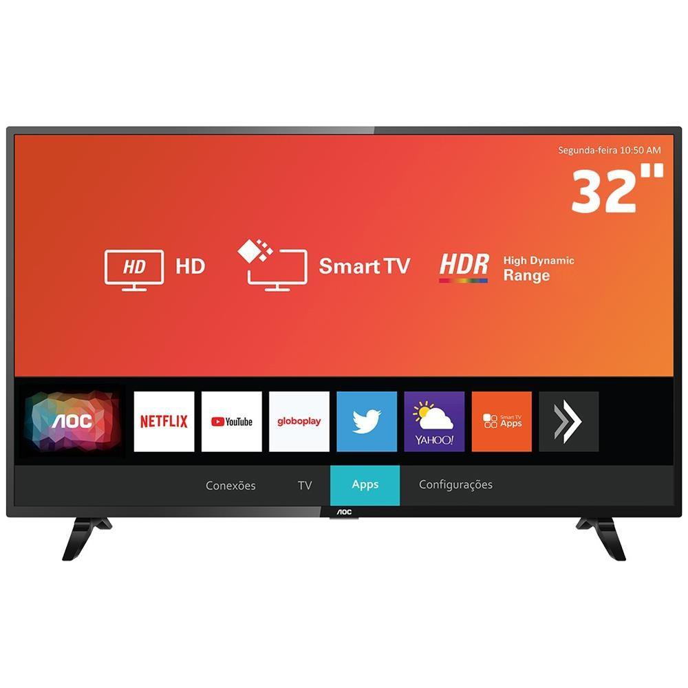 Televisor Smart AOC Tela 32 LED HD 2 HDMI 1 USB - LE32S5970S - 32S5295