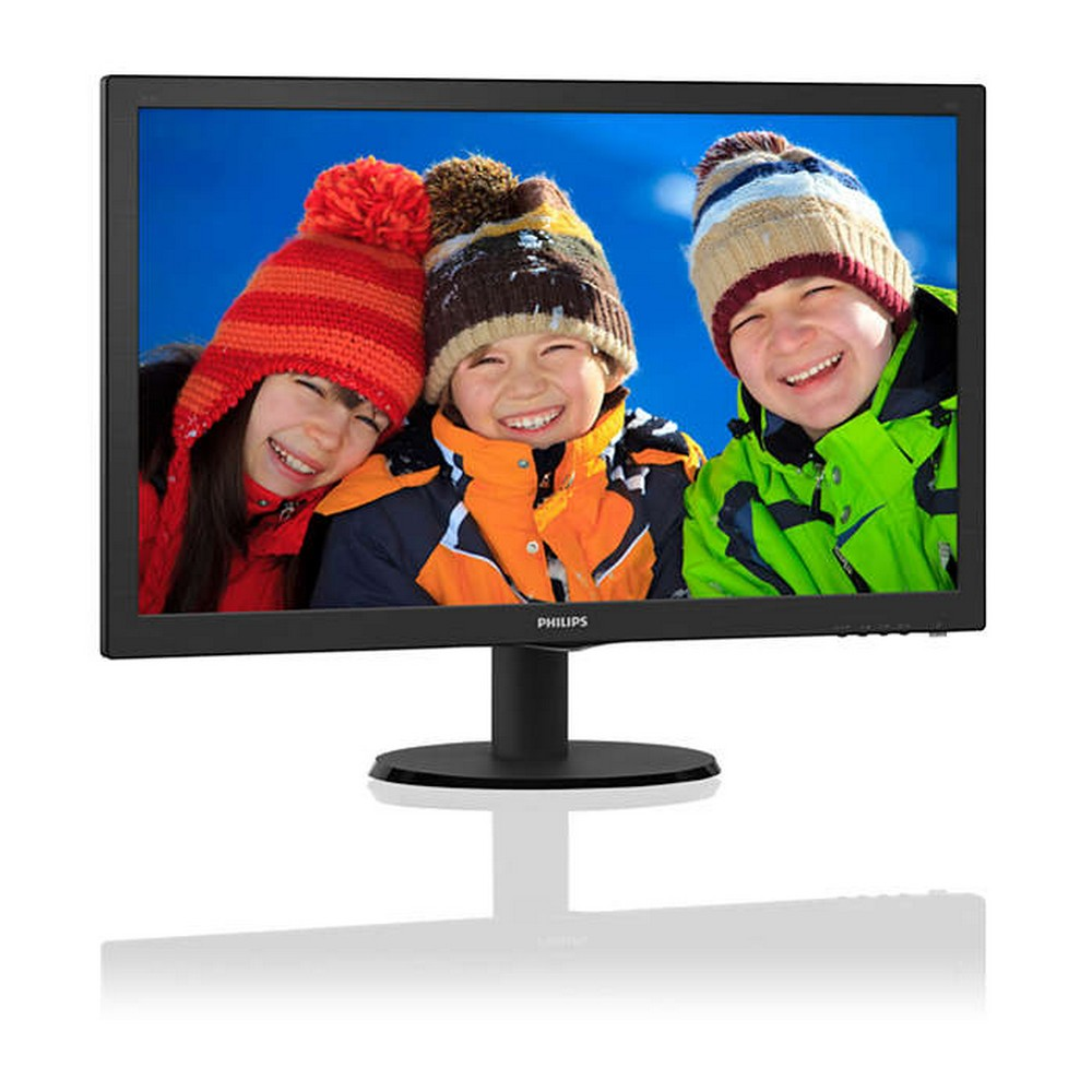 Monitor Philips 243V5QHABA/57 Tela 23,6 LED Preto HDMI/VGA com Audio - 243V5QHABA/57