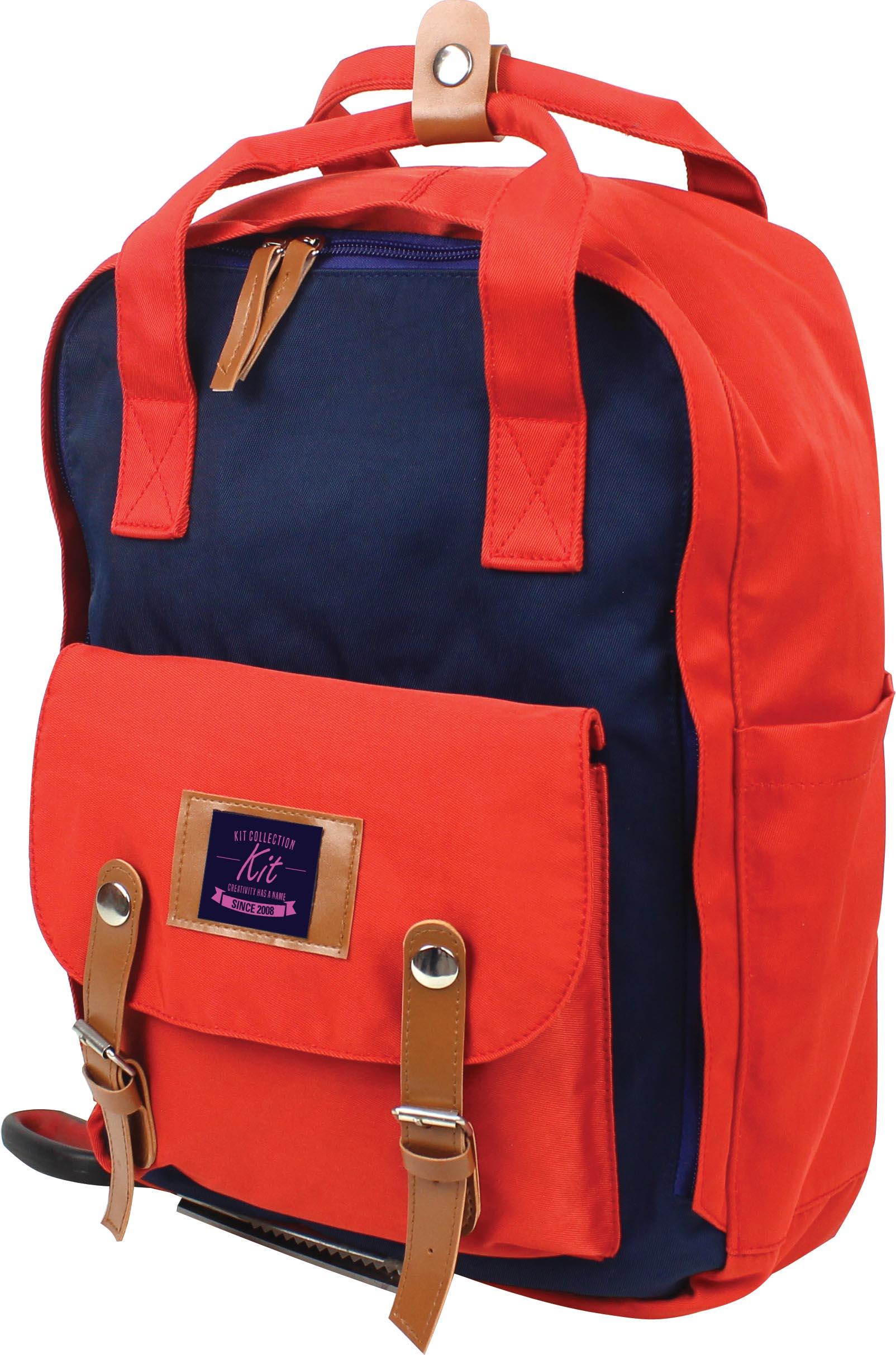 Mochila Escolar Juvenil Summers Azul e Vermelho Kit - JM-1911