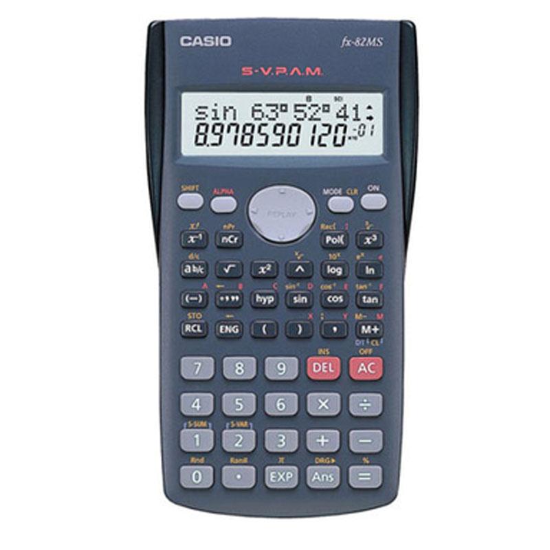 Calculadora Eletrônica Científica 12 Dígitos 240 Funções Preto Casio - Unitário - FX-82MS-SC4-DT