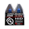 Lâmpada Super Branca Automotiva H4 55w 12 Volts 8500K Qualyten - Vendido no Par - H4-4078