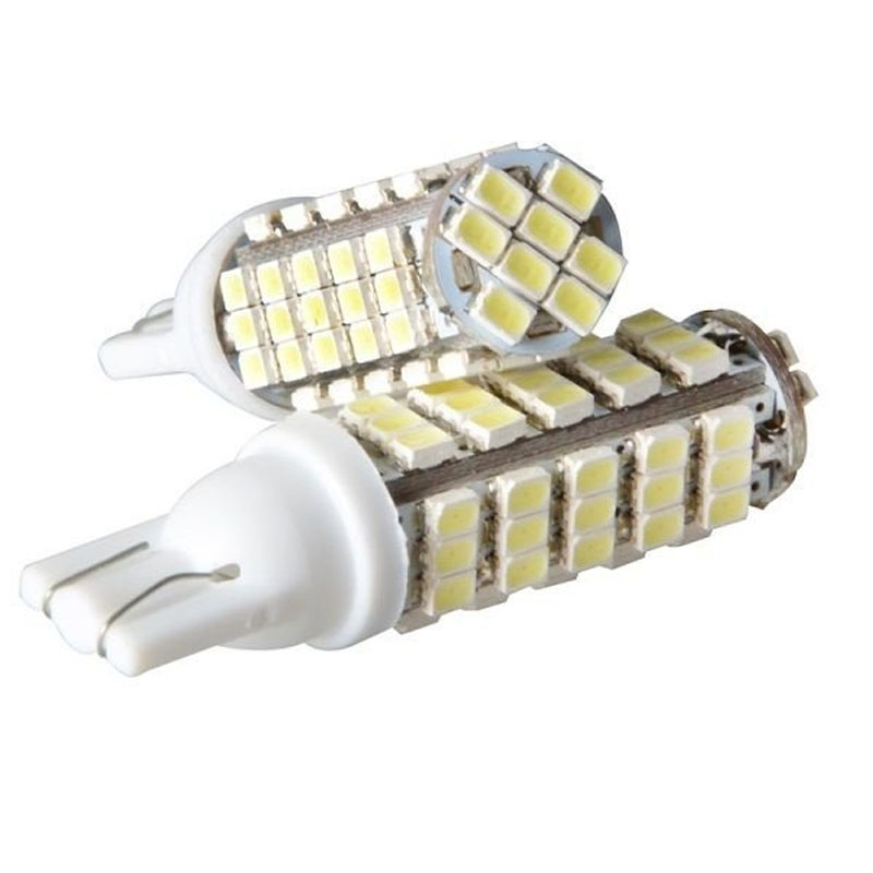 Lâmpada Led Automotiva 68 Leds T10 12 Volts 6000K Super Branca Velox Parts - Vendido no Par - 820.105
