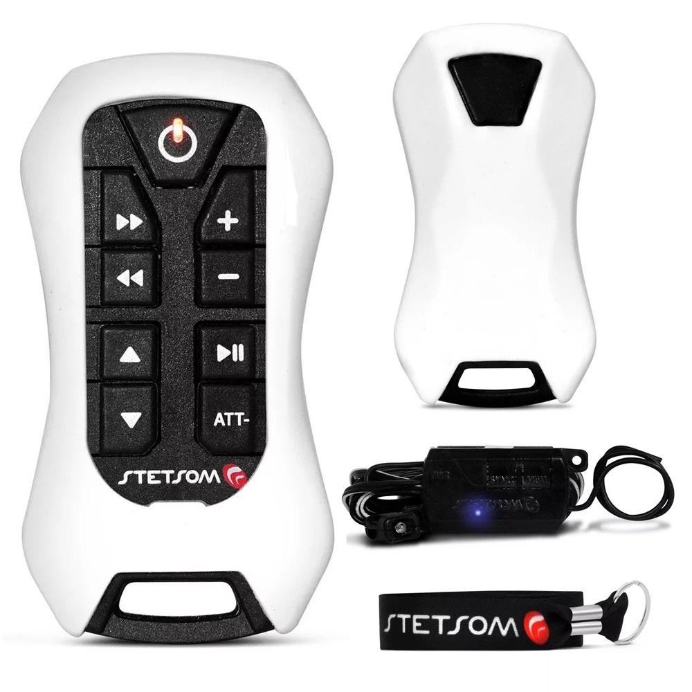Controle de Longa Distância 200 Metros 8 Funções Branco - Stetsom - Vendido Unitário - SX2 LIGHT